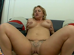 Blond mature lady is going to enjoy it big and thick