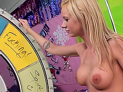 Blonde Kaylee Hilton rides big cock and toys herself