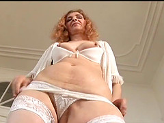 Lovely mature amateur cowgirl gives a blowjob after  getting slammed hardcore