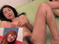 Lots of nasty ass Asian sluts getting pussy licked