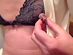 Amateur mature with pierced nipple