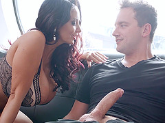 Amazing titty fucking with Ava Addams whose pussy he drills