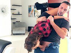 Madison Ivy seduced by a man for a plowing experience