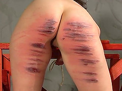 Blonde mistress finally gets to punish a friend with a whip