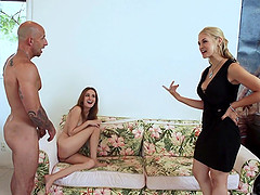 Banging Sarah Vandella and her friend together makes him cum fast