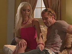 Blonde beauty Jessica Lynn moans during a hardcore fucking session
