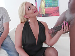 Black Stranger Creampies Wife Skylar Xtreme After Ass Fucking Next to Cuck