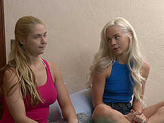 Elsa Jean and Sarah Vandella eat each other's cunts on the bed