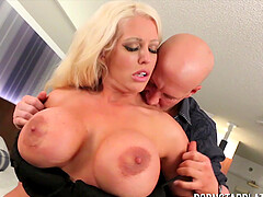 Big tit blonde Alura Jenson has her fuck hole stuffed