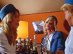 Old Man Fucks a Hot Blonde Babe in a Les Hotesses du Sexe Scene