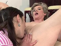 Aliz and Connie make out passionately and practise 69 position