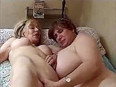 Two Grannies are enjoying that huge dick that they play with