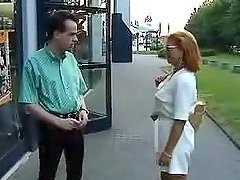 Lady Barbara lets some guy undress her in nice retro clip