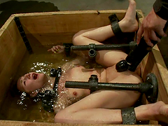 Water bondage for a kinky and naughty blond Jessie