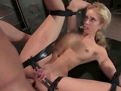 Kelly Wells gets all her holes unforgettably drilled in hot BDSM clip