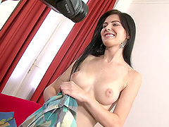 Brunette babe Lucianna gets all her holes fucked remarcably well