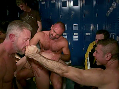 Hardcore BDSM group sex with horny homos Nick Moretti and Josh West