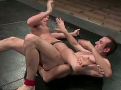 Hot Jason Miller And Dustin Michaels Wrestle Until They Fuck Each Other