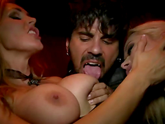 Nasty chicks get fucked at a party in reality public sex scene