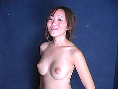 Leilli Yang blows a big black cock and gets facialed