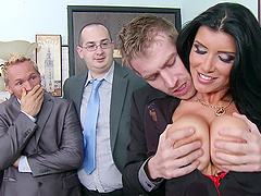 Romi Rain And Danny D Go Extremely Hardcore At The Office