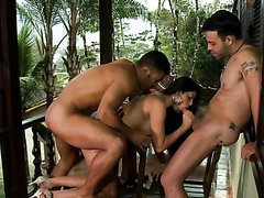 Sexy Brazilian Beauty Fabiane Thompson Gets Double Penetrated Outdoors