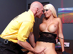 Rikki Six is a perfect big tits blonde pornstar for hardcore fucking
