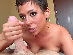 Short Haired Beauty Gives The Hottest POV Blowjob