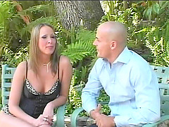 Anal Mandy Bright sucks cock and fucked hardcore outdoor