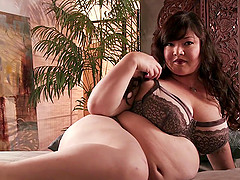 Asian BBW Kelly Shibari gets her sweet pussy fucked hard