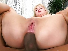 Amabella's Gaping Asshole Gets Covered With Cum After Interracial Anal