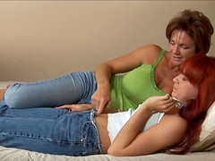 Deauxma mounts a tight pussy with her strapon cock and fucks it