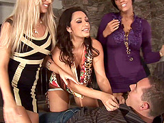 Erotic dames get their vision blurred in a hardcore group fucking