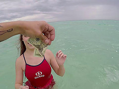 Teen life guard is willing to suck a cock and fuck for money