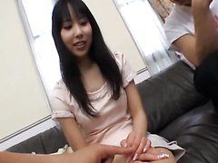 Horny Asian Fucked Hard In MMF Threesome