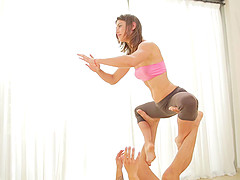 Athletic babe with an amazing ass gets fucked by her yoga instructor