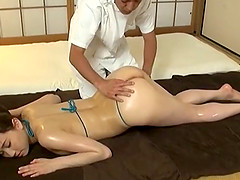 She needs more from the massage so he fucks her after the rubdown