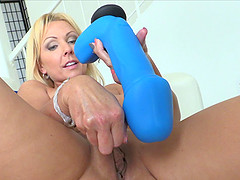 Alysha always uses only the largest toys in her solo sessions