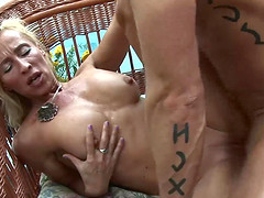 Blonde Mature Melissa Q Sucking And Fucking Cock