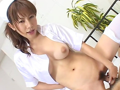 Asian slut with a huge ass getting boned real good