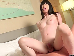 Petite shemale from Japan can't wait to get pounded hard