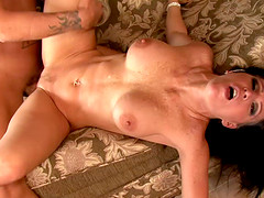 Fit mommy lets two guys fuck her in every way they want