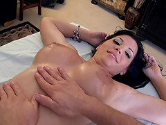 Big titty brunette doll with long hair bends over for a thrilling doggy style fuck