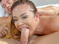 Busty chick Mia can ride the cock like a true cock-riding professional
