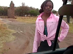 Extreme hot african chocolade babe gets wild fucked at my safari tour