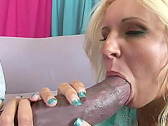 Massive black cock makes a gorgeous blonde Nikki Luv horny