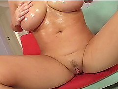 Cheerful babe Sara takes on a long cock with her mouth and her cunt