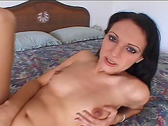 Charming small tits brunette cougar cock riding hardcore
