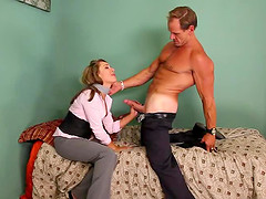 Desirable Ella Millano rides the pecker and takes it doggy style