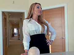 Stacey wishes to receive a tender pussy drilling from her man
